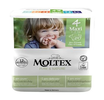 Pannolini moltex pure & nature maxi 7-18 kg taglia 4 29 pezzi