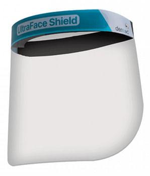 Ultraface shield visiera protettiva in pvc con fascia elastica 2 pezzi