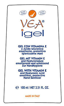 Vea igel gel mani igienizzante vitamina e acido ialuronico 100 ml