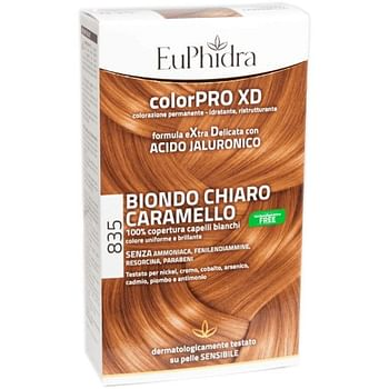 Euphidra colorpro gel colorante capelli xd 835 avana 50 ml in flacone + attivante + balsamo + guanti