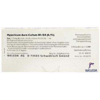 Weleda hypericum auro cultum rh d3 01% 8 fiale da 1 ml l'una