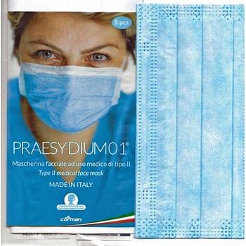 Mascherina chirurgica praesydium01 5 pezzi