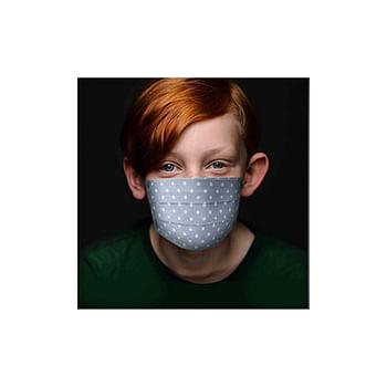 Set 2 mascherine stampate baby azzurro/pois 2 pezzi