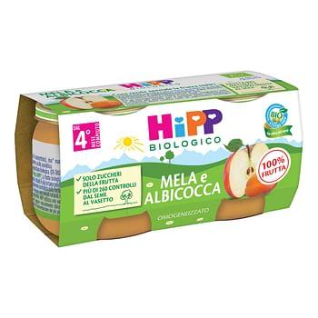 Hipp omogeneizzato albicocca/mela 2 x 80 g