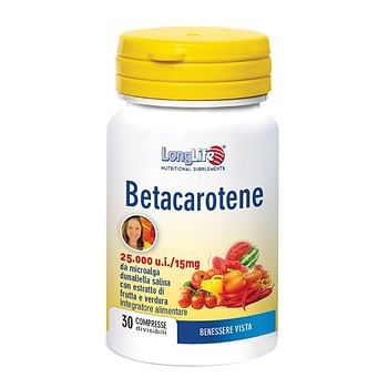 Longlife betacarotene 25000 ui 30 compresse