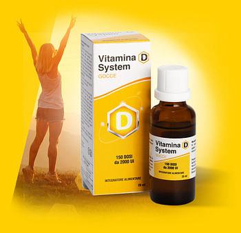 Vitamina d system gocce 150 dosi da 2000 ui 26 ml