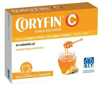 Coryfin c senza zucchero miele zenzero 24 caramelle
