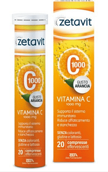 Zetavit c1000 20 compresse effervescenti