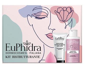 Euphidra kit rigenerante 1 maschera ristrutturante + 1 minilozione micellare + 1 drop make up