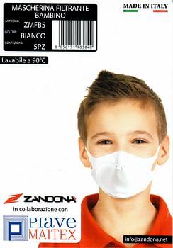 Mascherina filtrante bambini 5 pezzi