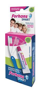Forhans smart kit igiene orale spazzolino pieghevole + dentifricio 12 ml