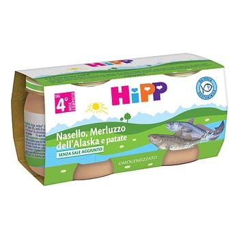 Hipp omogeneizzato nasello/merluzzo dell'alaska e patate 2 x 80 g