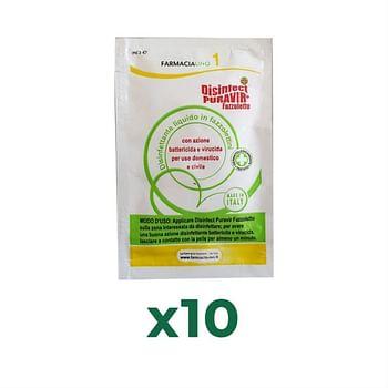 Igien protect disinfect puravir 10 fazzoletti x 3 ml