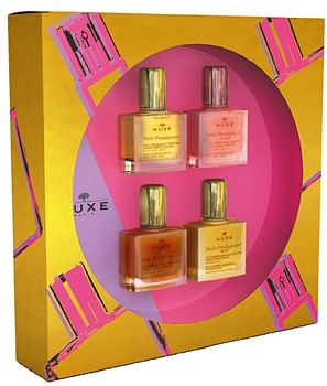 Nuxe coffret collection mini hp 2020 huile prodigieuse florale 10ml + huile prodigieuse 10ml + huile prodigieuse riche 10ml + huile prodigieuse or 10ml