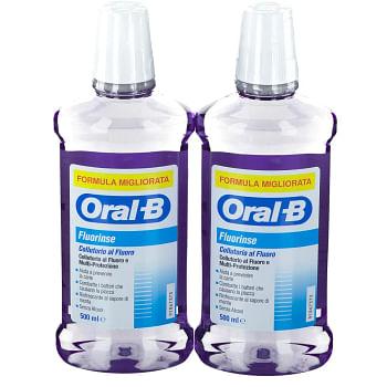 Oralb collutorio fluorinse bipacco 2x500 ml