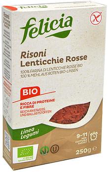 Felicia bio risoni lenticchie rosse 250 g