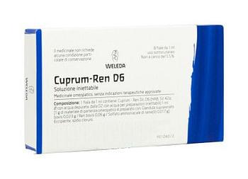 Weleda cuprum ren d6 8 fiale da 1 ml l'una