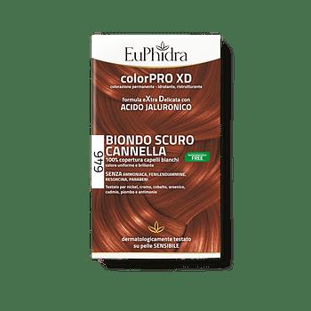 Euphidra colorpro gel colorante capelli xd 646 cannella 50 ml in flacone + attivante + balsamo + guanti