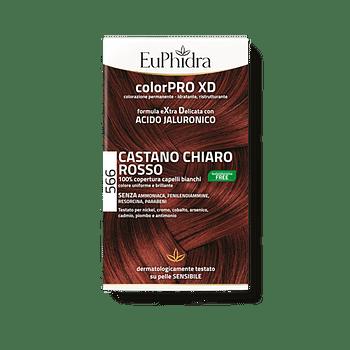 Euphidra colorpro gel colorante capelli xd 566 sangria 50 ml in flacone + attivante + balsamo + guanti