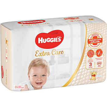 Huggies extra care grande 3 40 pezzi