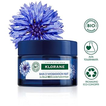 Klorane crema idratante notte fiordaliso acido ialuronico 50 ml