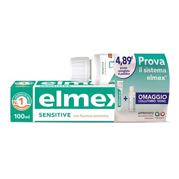 Elmex sensitive special pack 1 dentifricio elmex sensitive 100 ml + 1 collutorio elmex sensitive 100 ml in omaggio