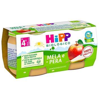 Hipp omogeneizzato mela/pera 2 x 80 g